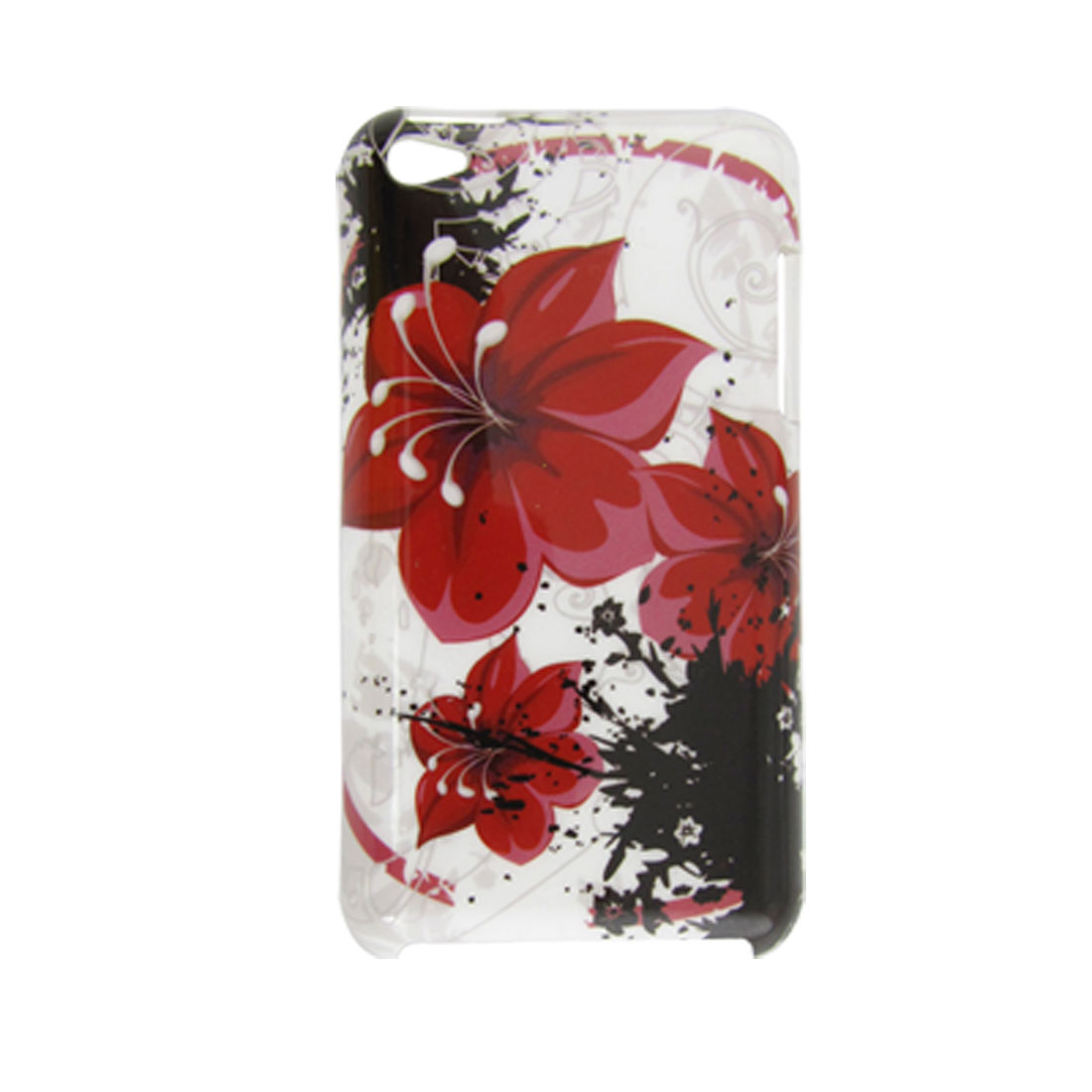 Floral Pattern Hard Plastic IMD Back Case for iPod Touch 4G