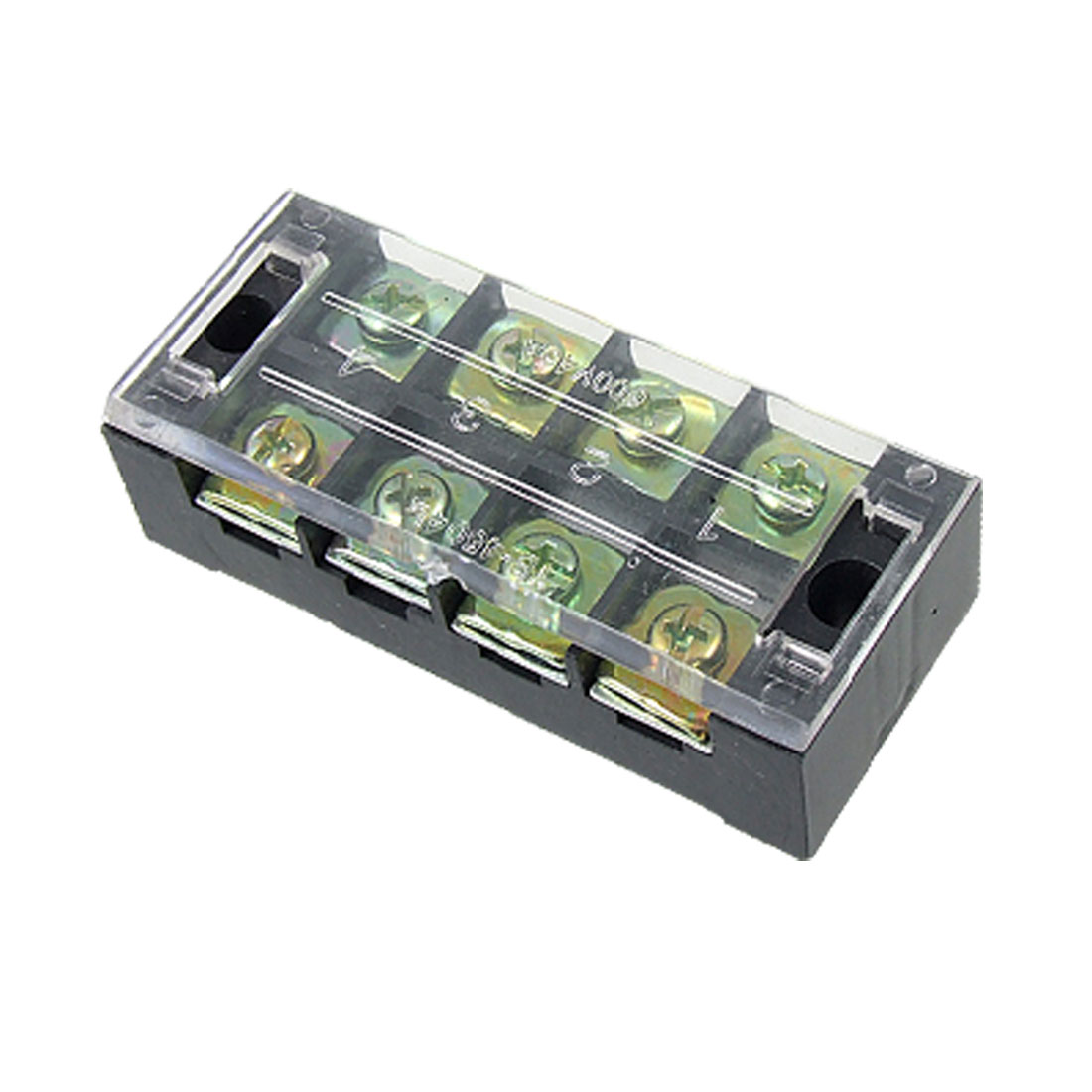 4 Position Double Row Barrier Screw Terminal Block
