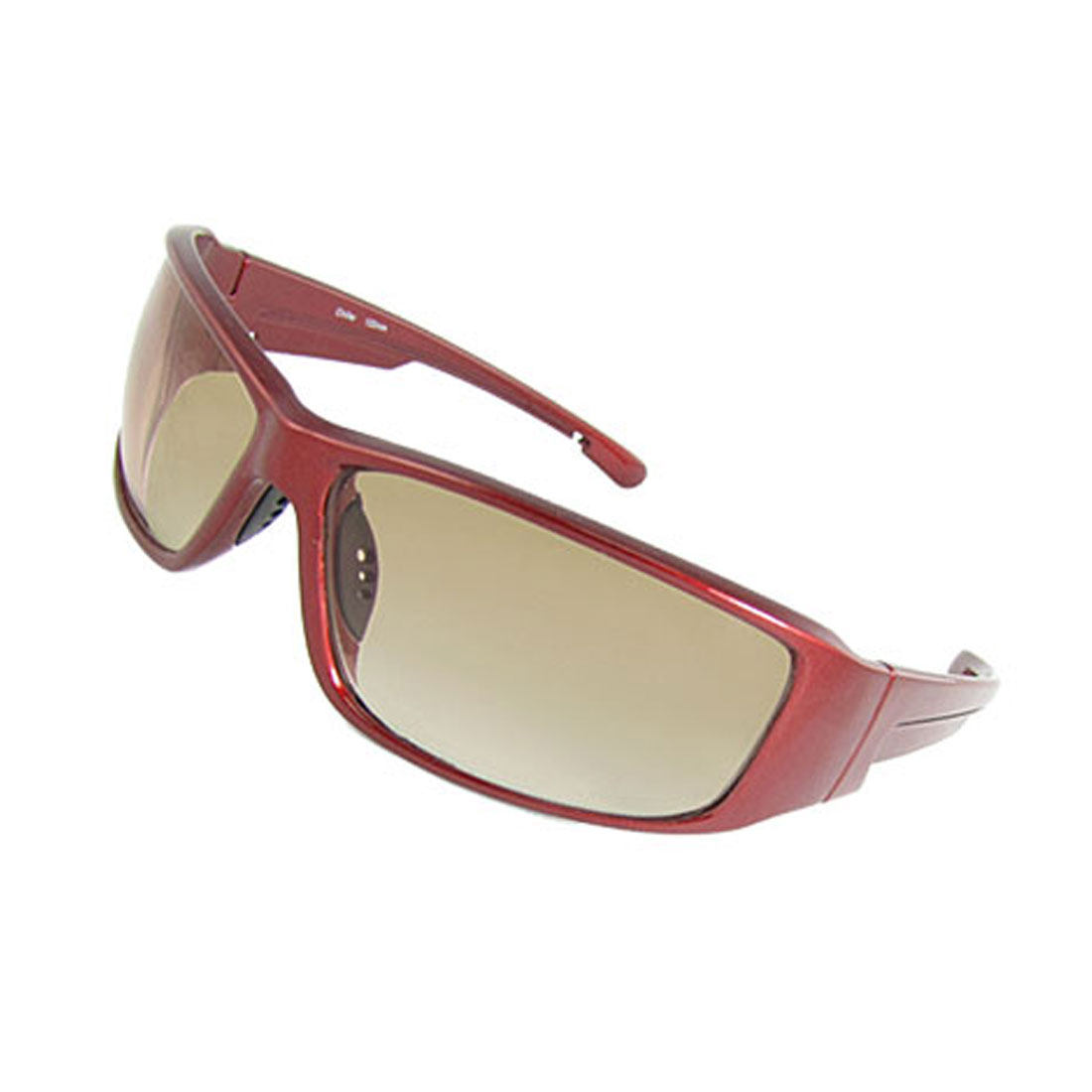 Unisex Plastic Arms Full Rim Leisure Sunglasses Burgundy
