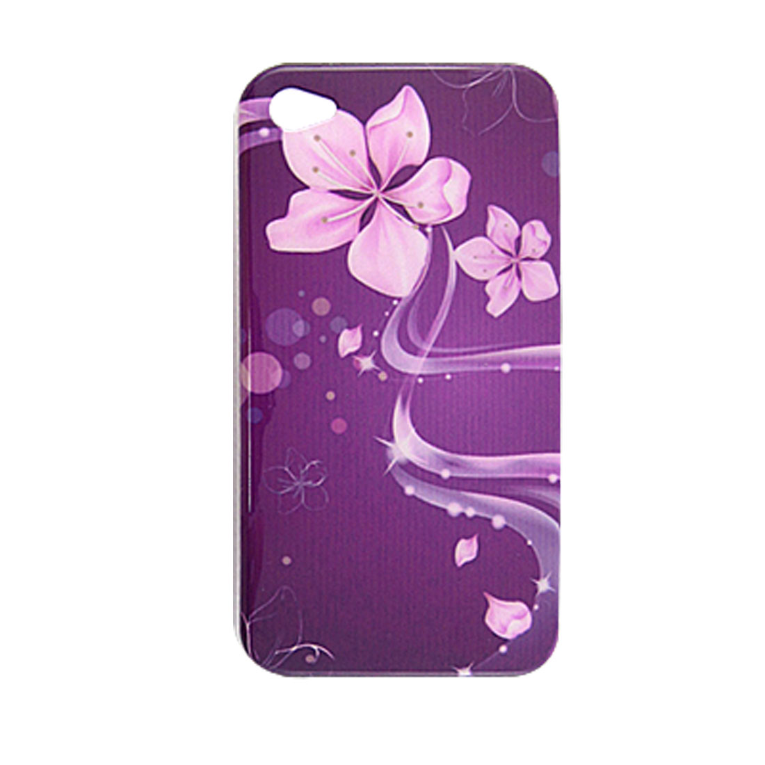 Pink Flower Hard Plastic IMD Protector Back Case for iPhone 4 4G