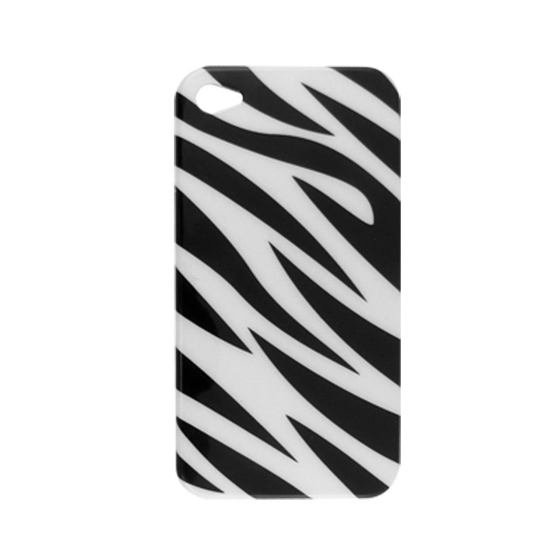 Smooth Hard Plastic IMD Zebra Pattern Back Case Shell for iPhone 4 4G