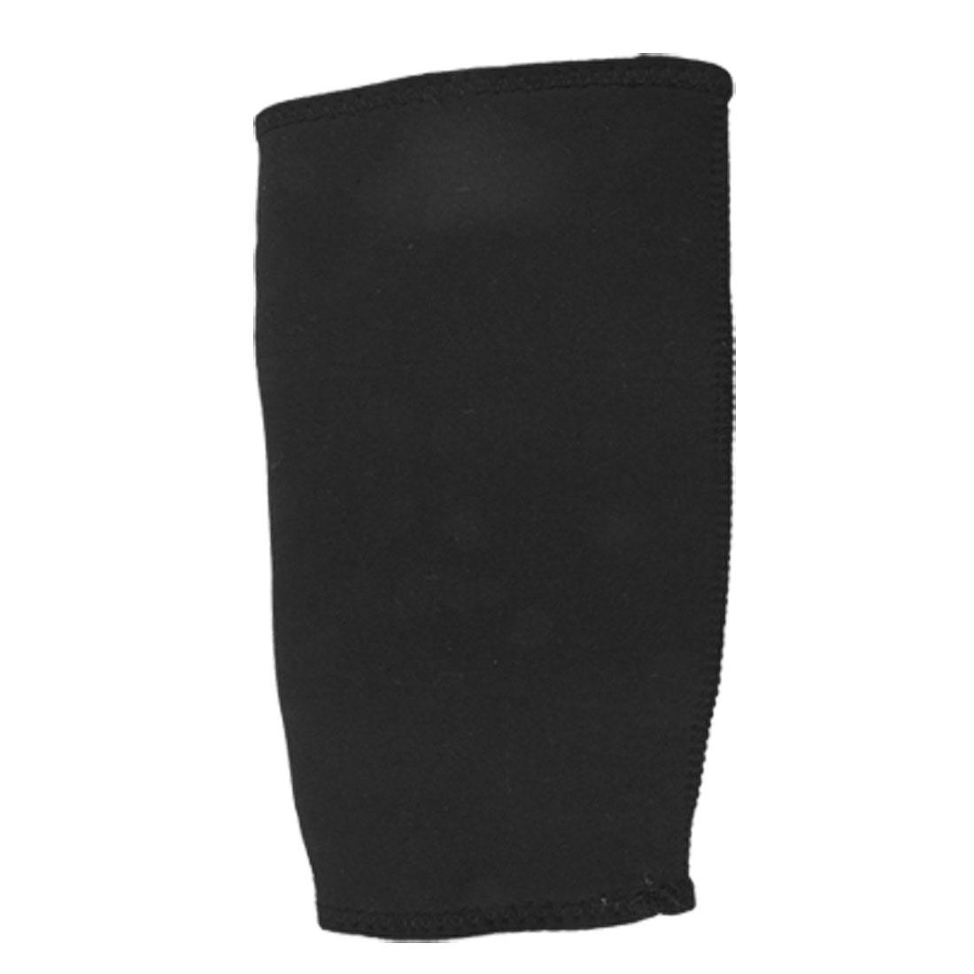 Size M Black Elastic Neoprene Sports Crus Calf Support Protector