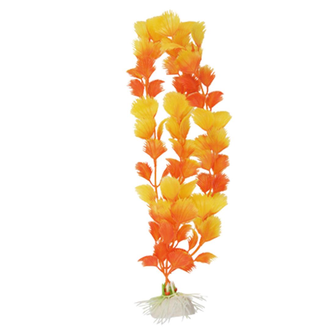Orange Plastic Plants Underwater Ornament Decor for Aquarium