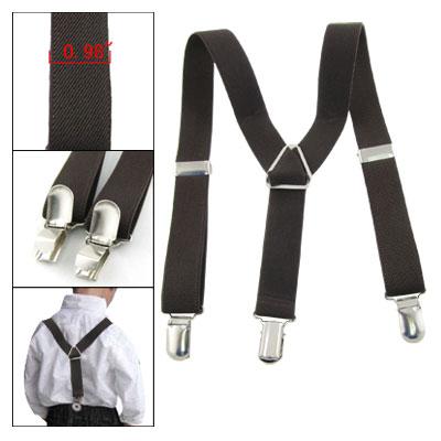 Adjustable Coffee Y-Back Children Trousers Braces Suspenders