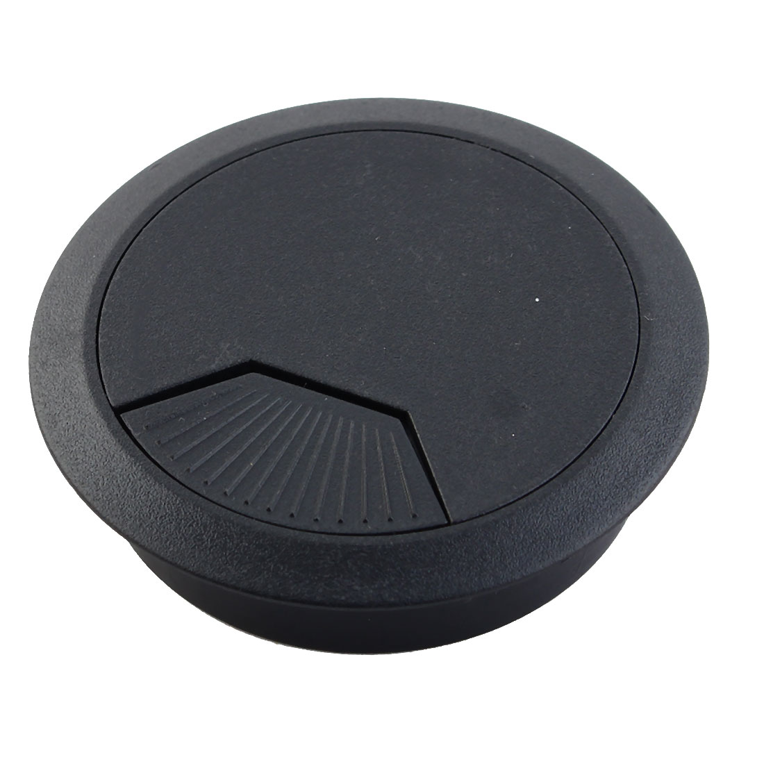 Home Office Desk Table Computer Grommet Cable Wire Hole Cover Black