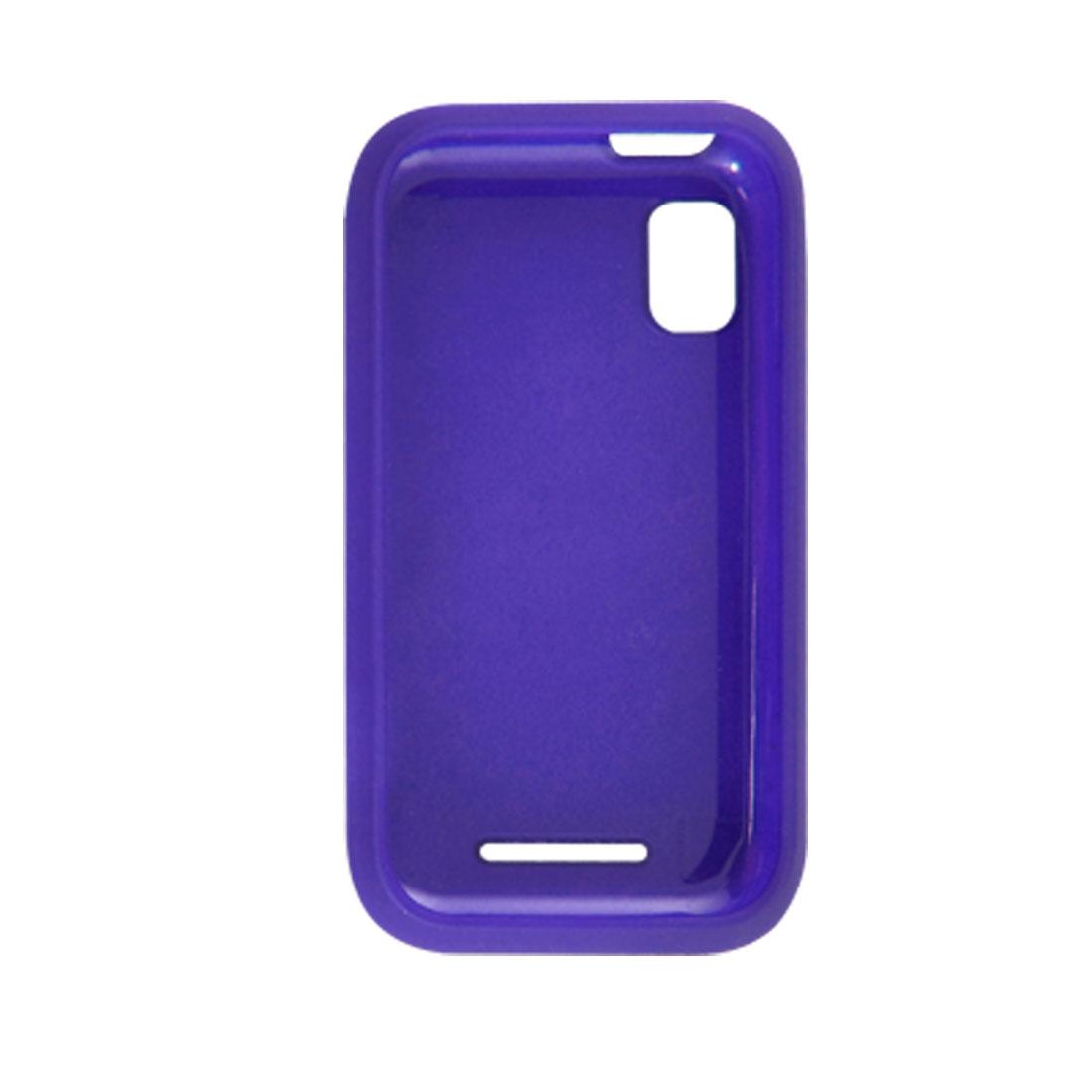 Blue Rubberized Plastic Detachable Case Shield for Motorola MB508