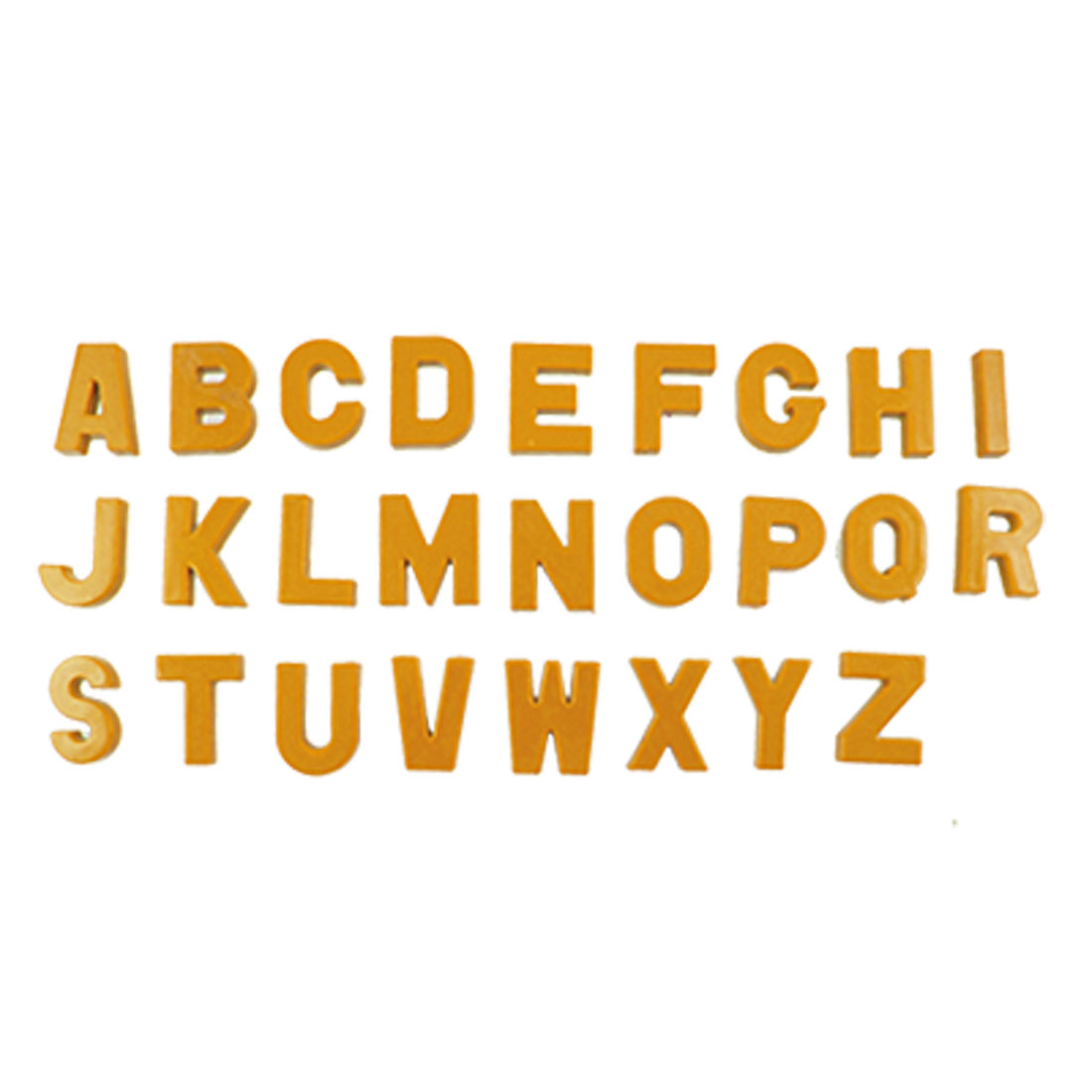 26 Pcs Orange Plastic Alphabet Shape Magnetic Sticker Decor