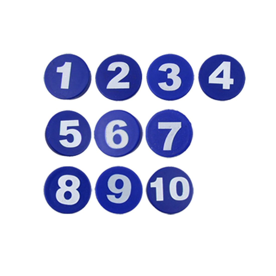 Fridge 10 Pcs Blue Plastic Arabic Number Magnet Sticker