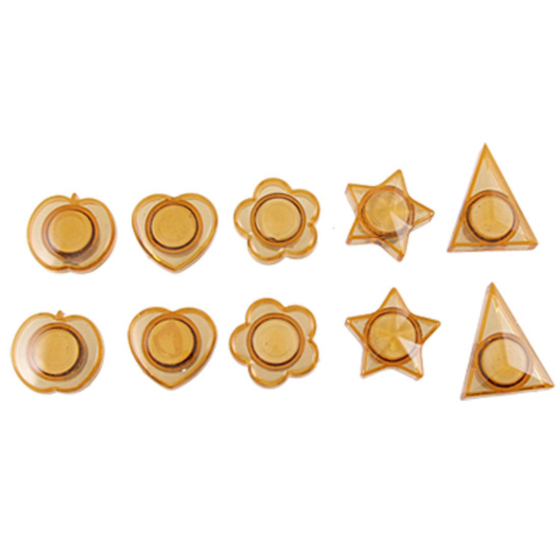 Refrigerator 10 Pcs Triangle Apple Flower Star Heart Magnet Sticker