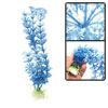 White Blue Plastic Grass Underwater Ornament for Fish Tank