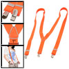 "Orange Red 1"" Width Stretchy Strap Y Back Pants Suspender Braces"