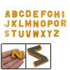 26 Pcs Orange Plastic Alphabet Shape Magnetic Sticker