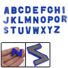 26 Pcs Alphabet Blue Plastic Magnetic Sticker Decor Toy