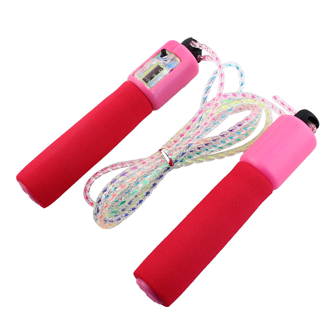 Red Foam Coated Handle Amaranth Resettable Counter Jump Rope