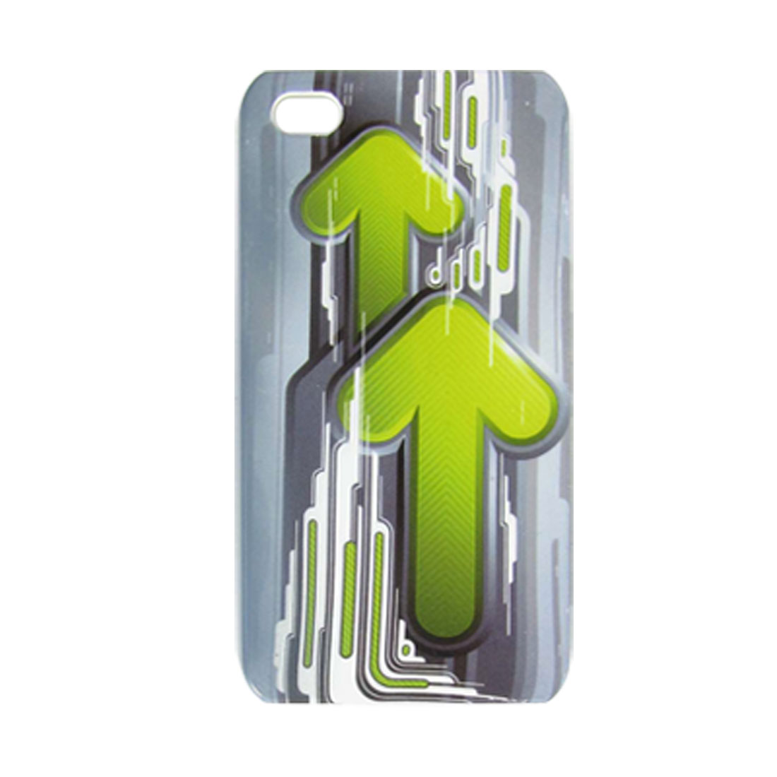 Green Double Arrow Smooth Hard Plastic Protector for iPhone 4 4G