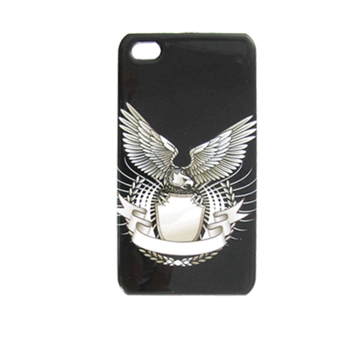 Eagle Pattern Black Base Hard Plastic Back Case for iPhone 4 4G