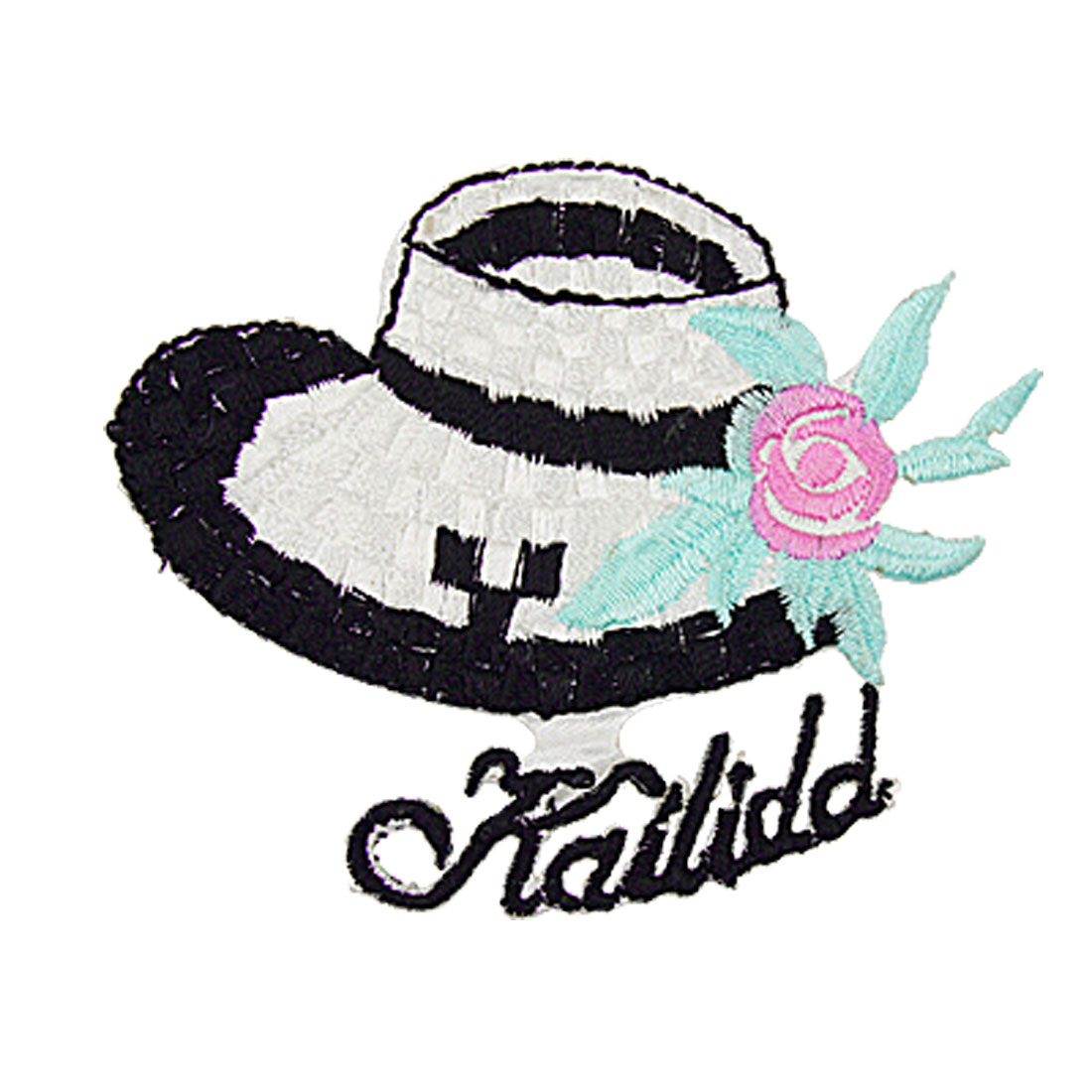 Flower Hat Design Embroidered Stickers Iron On DIY Patch
