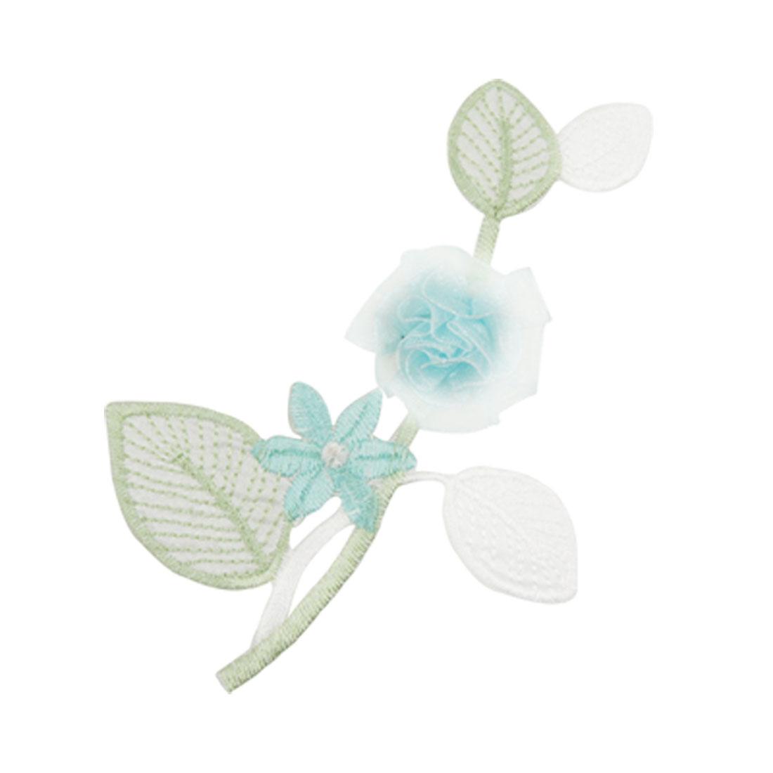 Shirt Embroidered Badge Jacket 3D Flower Design Patch