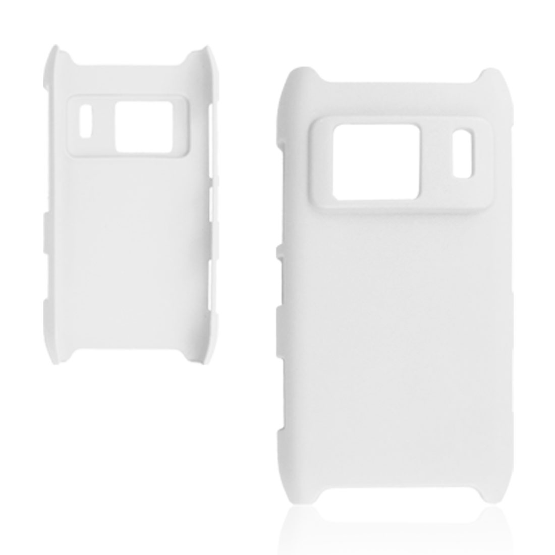White Rubberized Hard Plastic Shell Cover for Nokia N8