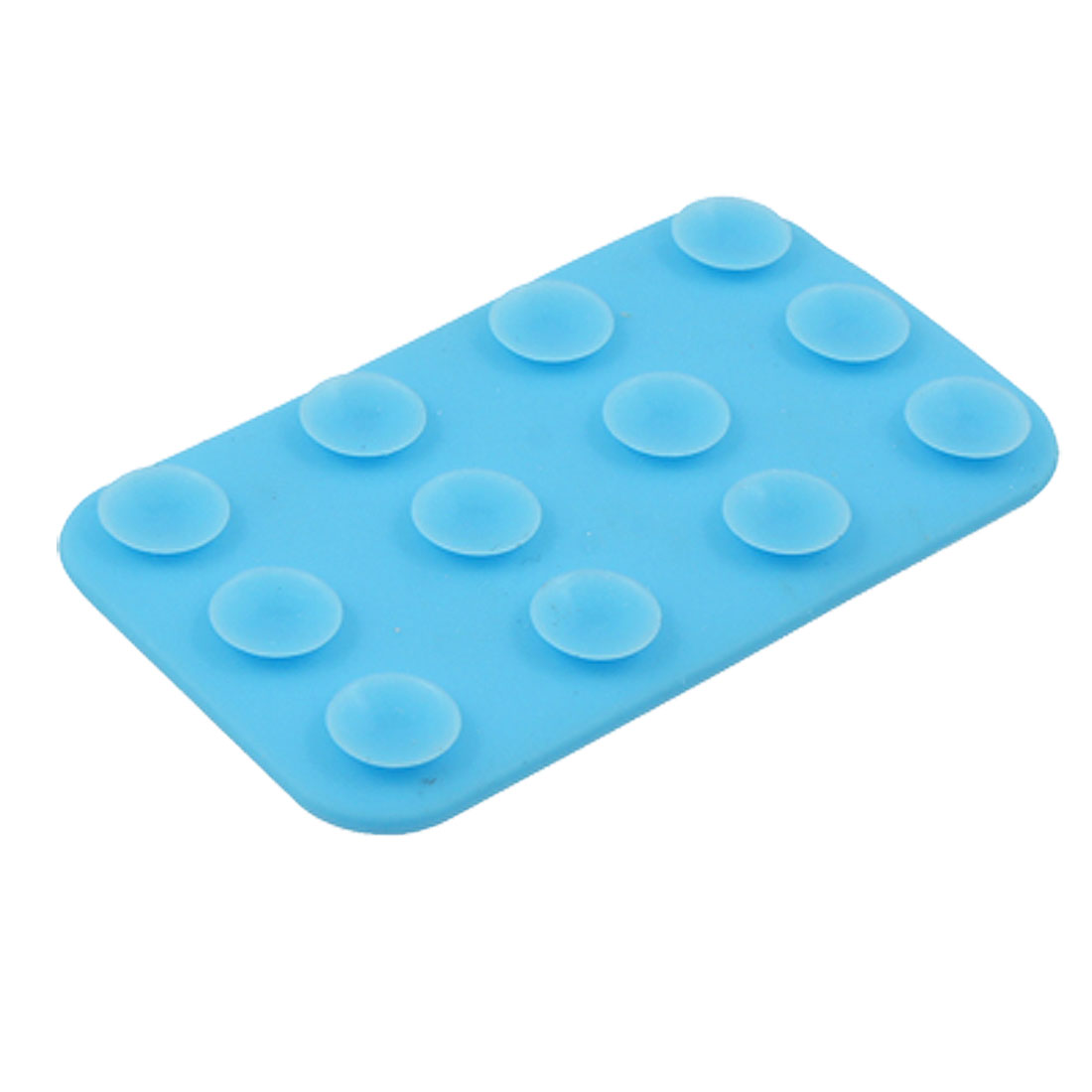 Mobile Phone Double Side Suntion Cap Mat Silicone Sucker Sky Blue