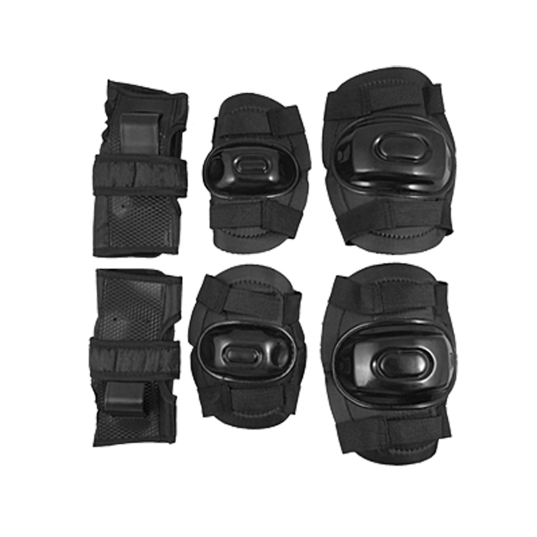 Kids 3 Sets Black Sports Support for Ellbow Wrist Knee
