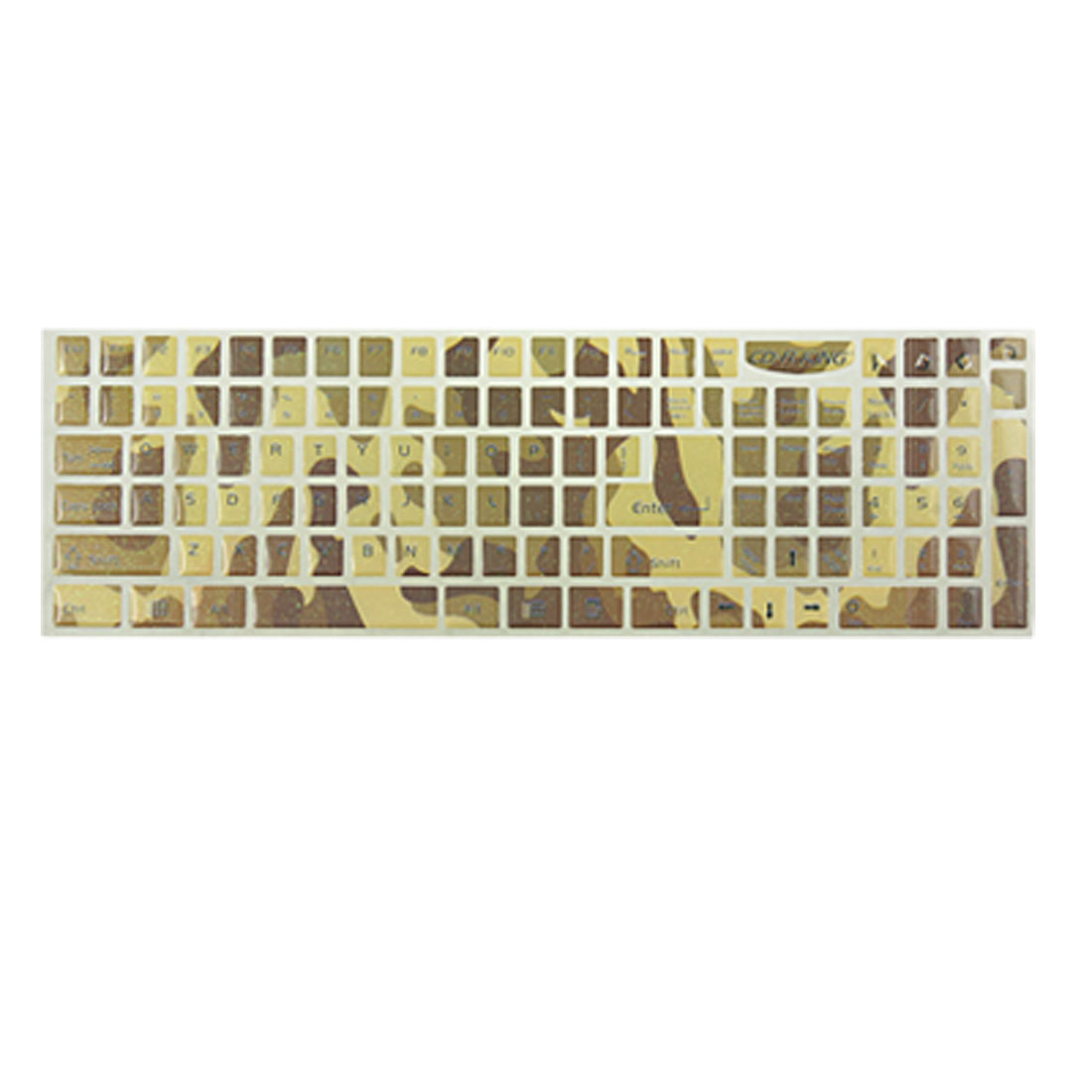 Camouflage Print Glittery Keyboard Sticker for Computer