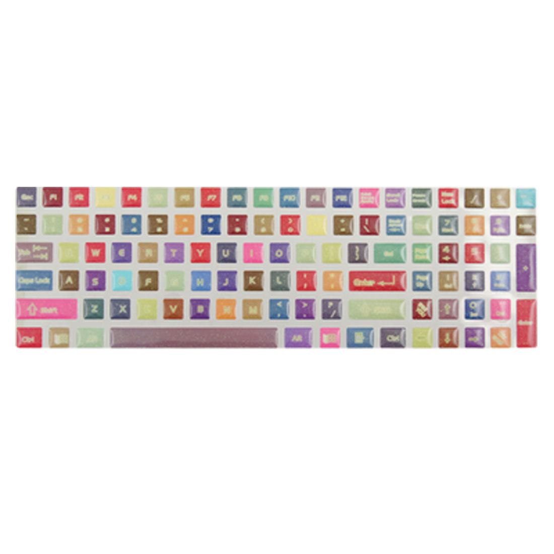 Computer Colorful Glittey Opaque Keyboard Sticker Decal