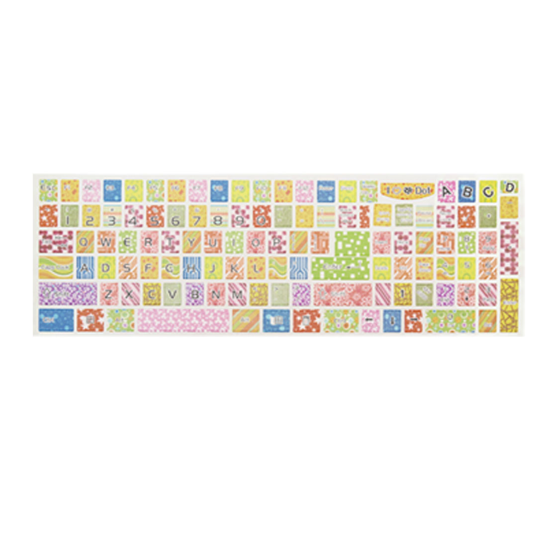 Colorful Printed Removable Plastic Keyboard Sticker Decal