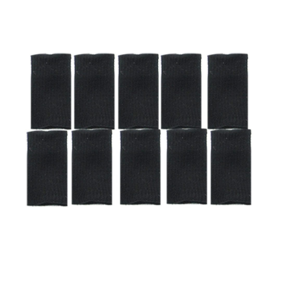10 Pcs Black Elastic Finger Sleeves Basketball Sports Wrap