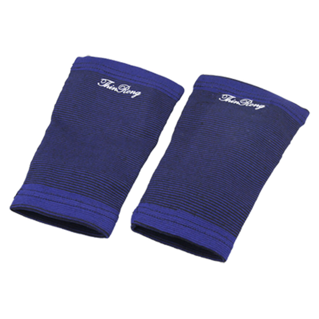 Pair of Black Blue Bar Print Stretch Calf Support Protector