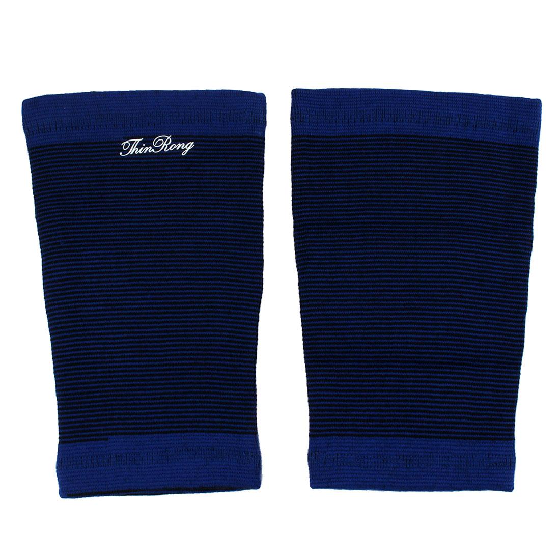 Black Blue Strip Elastic Thigh Support Sport Bandage x 2PCS