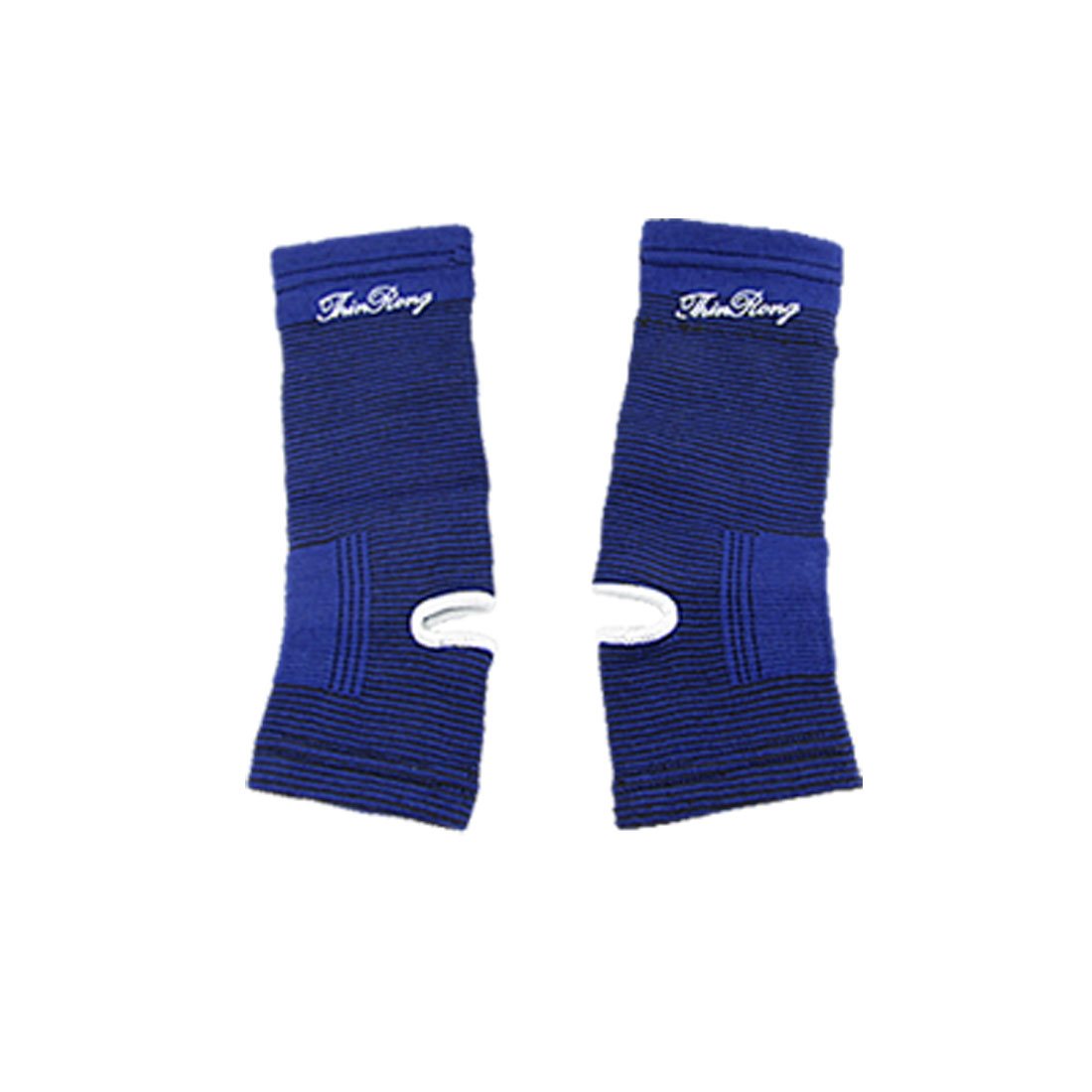 Elastic Black Blue Pinestripe Ankle Support Brace 2 Pcs