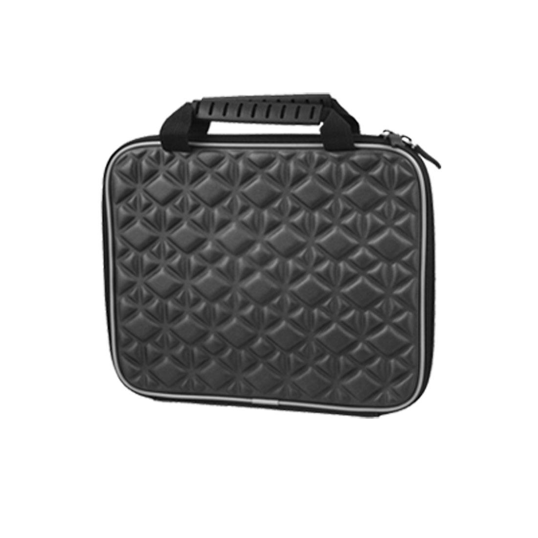 """10"""" Black Double Way Zip Up Carrying Handbag for Laptop"""