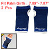 2Pcs Blue White Trimmed Pinstripe Stretchy Wrist Palm Support