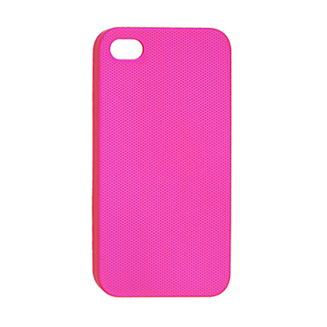 Hot Pink Dots Nonslip Plastic Back Case for iPhone 4 4G