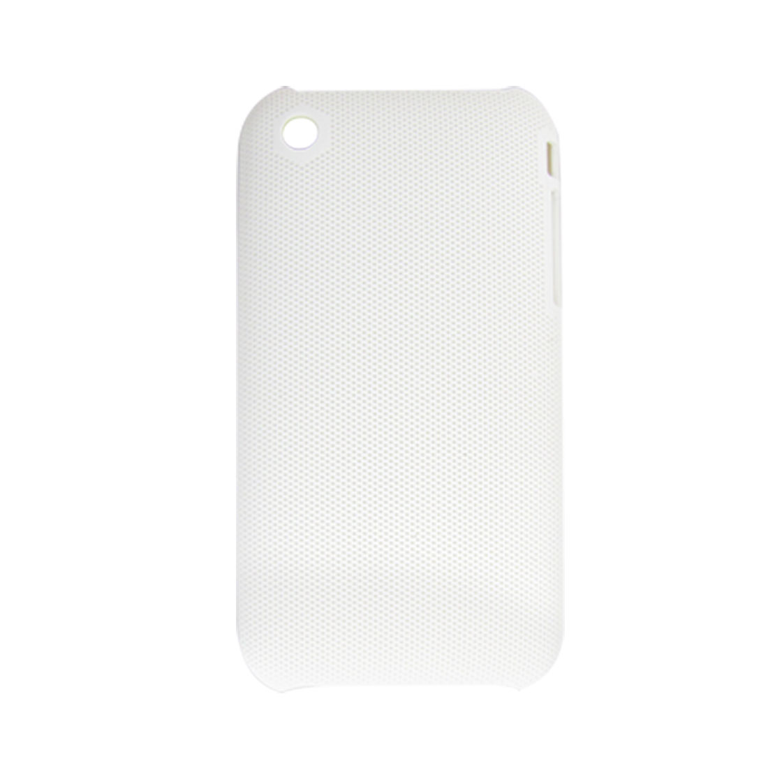 Protective White Rubberized Plastic Back Cover for iPhone 3G 3GS