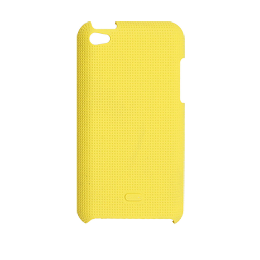 Yellow Antislip Back Case Protector for iPod Touch 4G