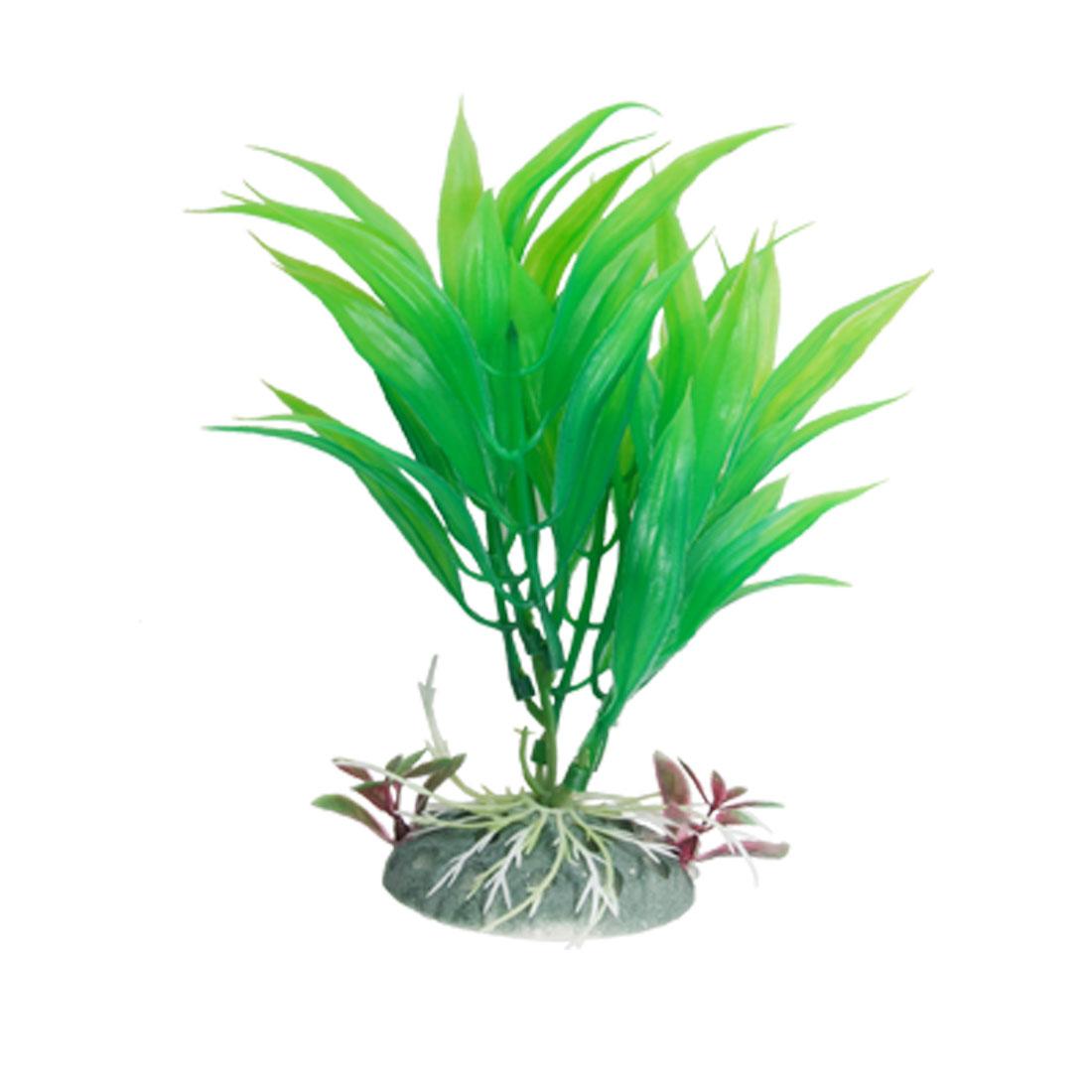 Plastic Green Grass Fish Tank Artificial Ornament for Aquarium
