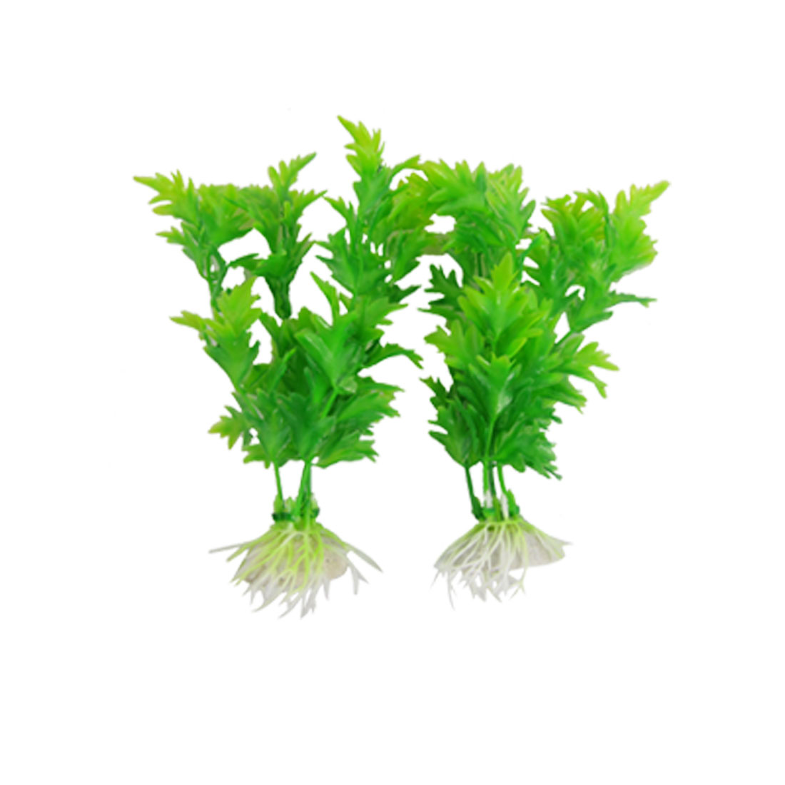 2 Pcs Aquarium Emulational Ornament Green Plastic Water Plants