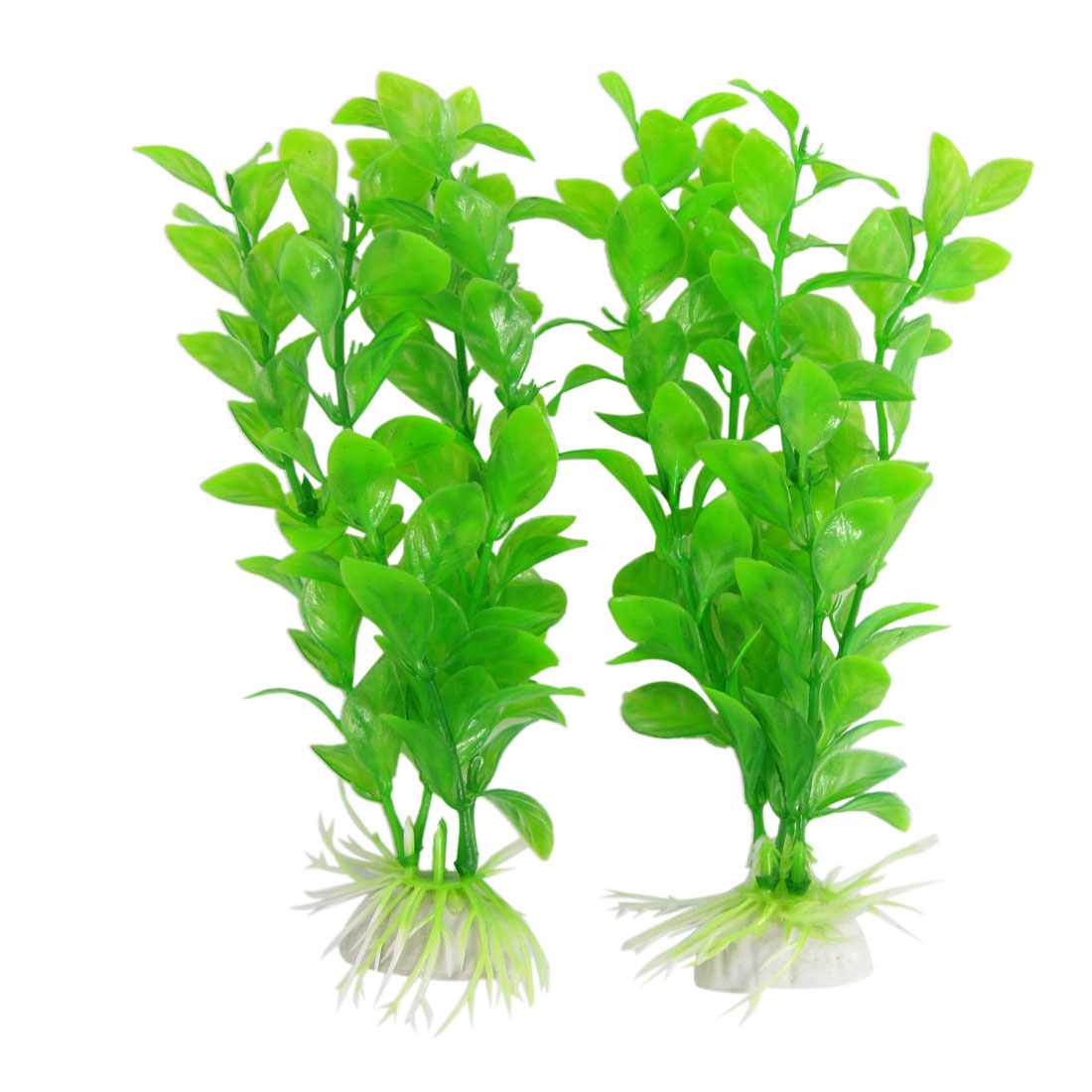 2 Pcs Aquarium Green Emulational Plant Tank Ornament