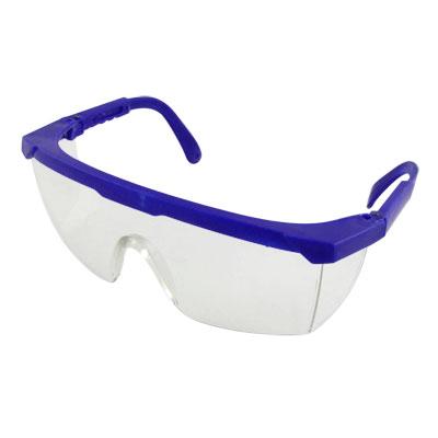Retractable Royal Blue Plastic Arms Uni-Lens Glasses Goggles