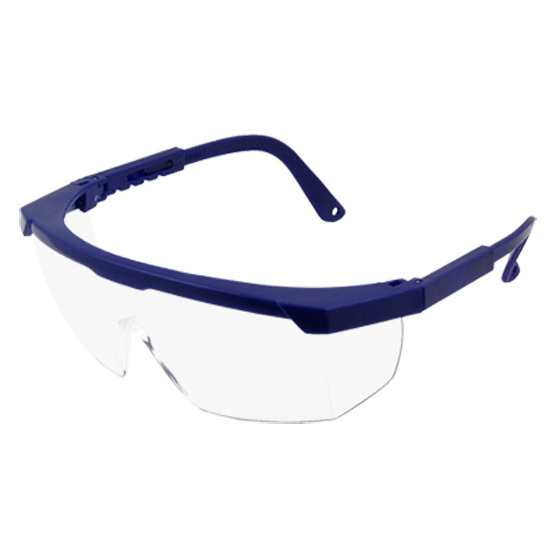 Unisex Royal Blue Frame Clear Uni Lens Retractable Arm Goggles Glasses