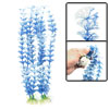 2PCS Blue White Grass Aquascaping Plants Ornament for Fish Tank