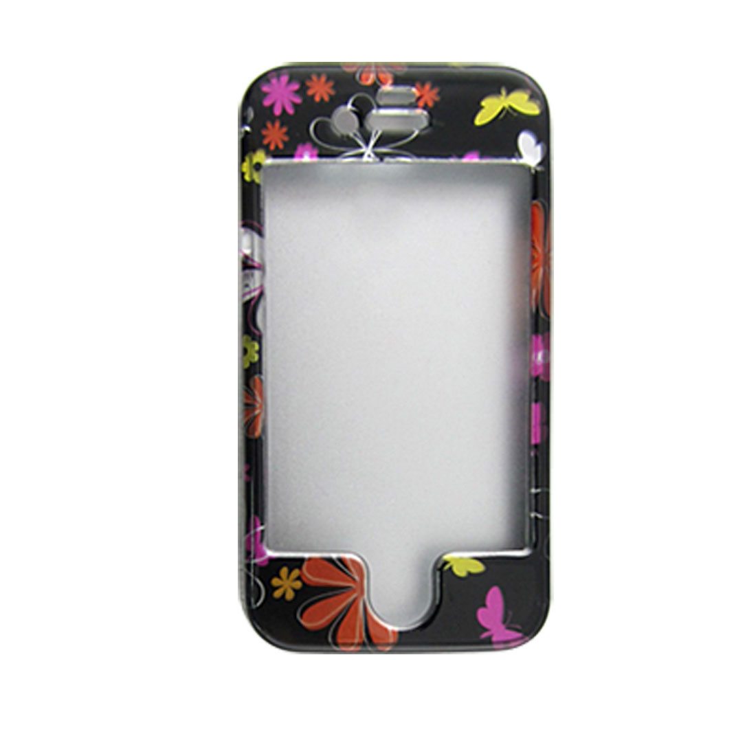 Butterfly Floral Printed Hard Plastic Cover for iPhone 4 4G