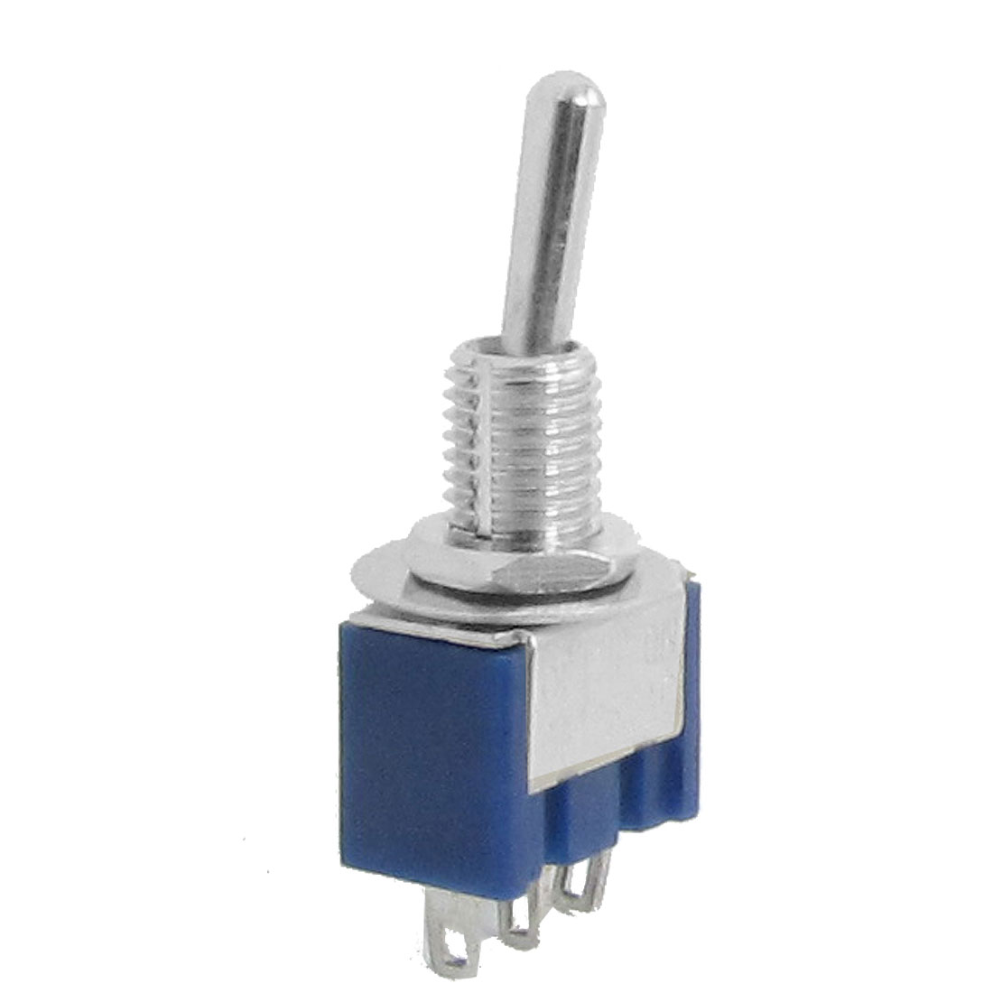 AC 125V 6A SPDT 3 Terminal On/On 2 Position Miniature Toggle Switch Blue