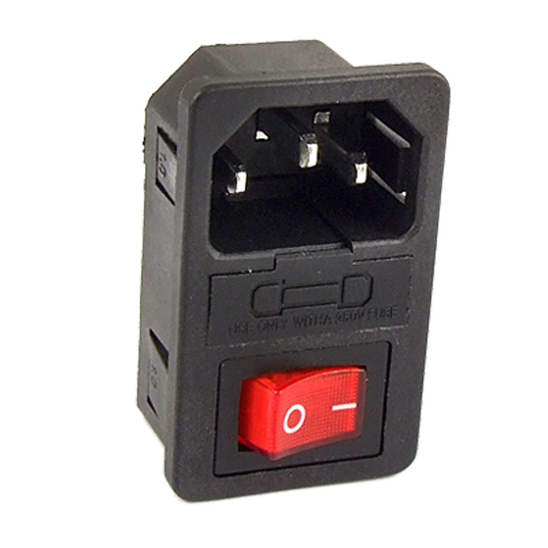 AC 10A 250V 3 Terminals IEC320 C14 Inlet Male Power Plug