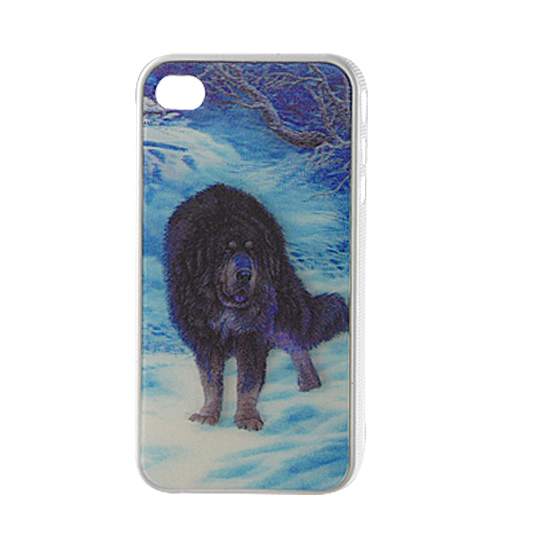 3D Snowfield Bear Pattern Plastic Back Case for iPhone 4 4G