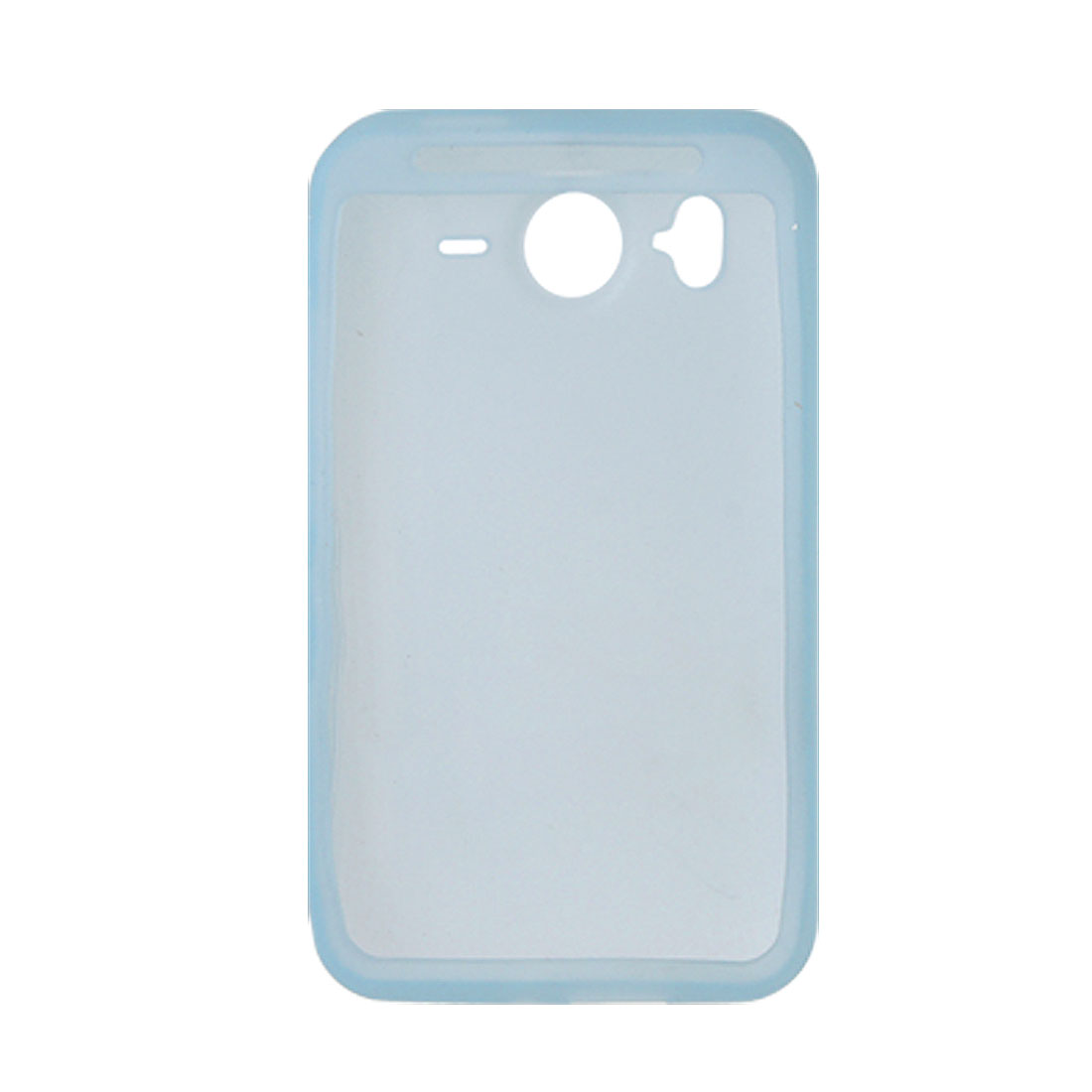 Soft Silicone Skin Light Blue Cover Case for HTC Desire HD