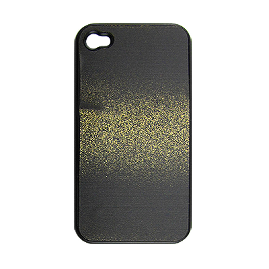 Sparkling Gold Tone Black Plastic Cover for iPhone 4 4G
