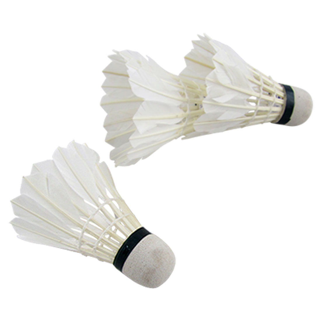Outdoor Sports Feather Foam Badminton Shuttlecock Ball Game White 3pcs